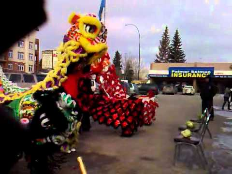 Jing Wo Lion Dance At Fortune Foods For Chinese New Years 2011