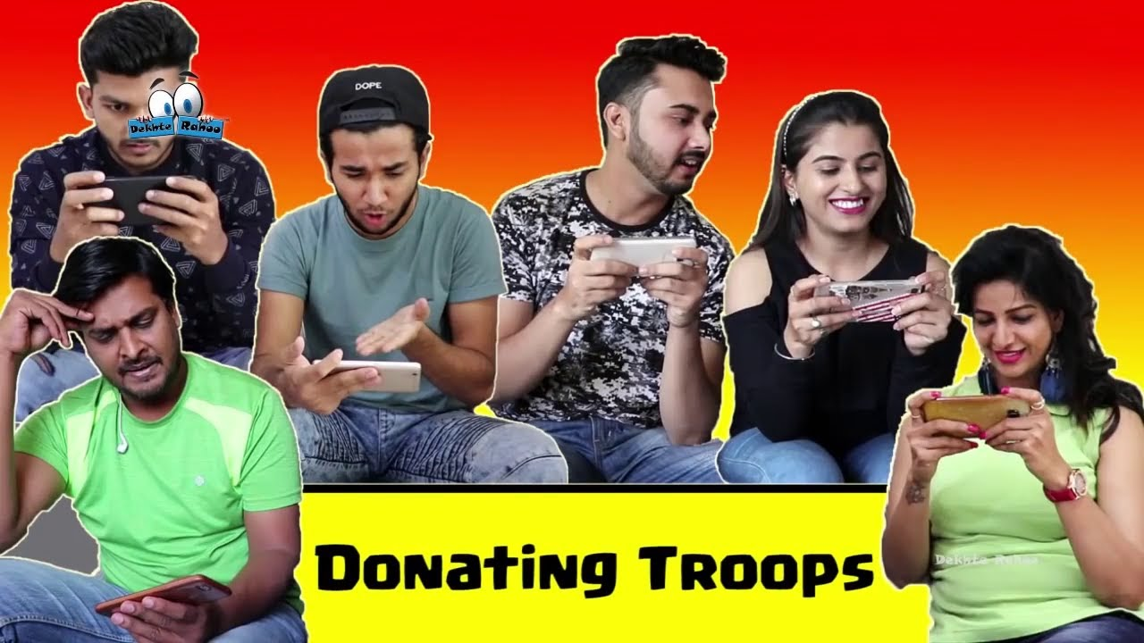 Girls vs Boys In Clash Of Clans - Donating Troops In COC