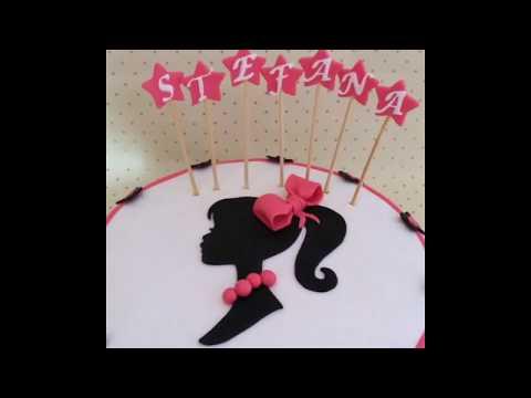 Barbi silhouette fondant cake. Torta sa Barbi siluetom od fondana