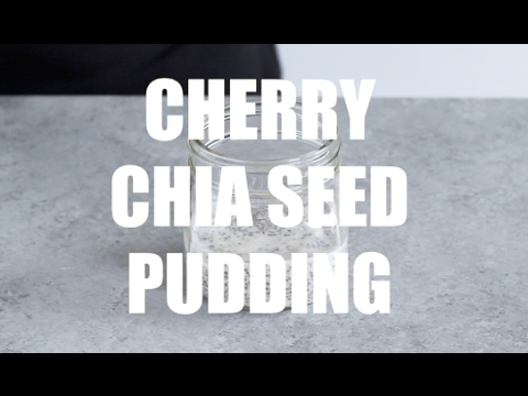 Cherry Chia Seed Pudding