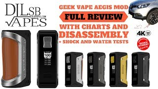 Geek Vape AEGIS Full Review and Giveaway with Charts and Disassembly + Torture Tests