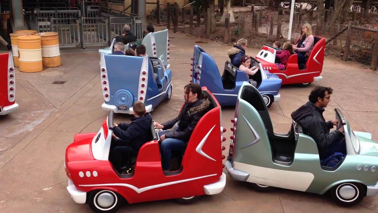 Pixar Cars Ride At Disneyland Paris Cars Quatre Roues Rallye Youtube