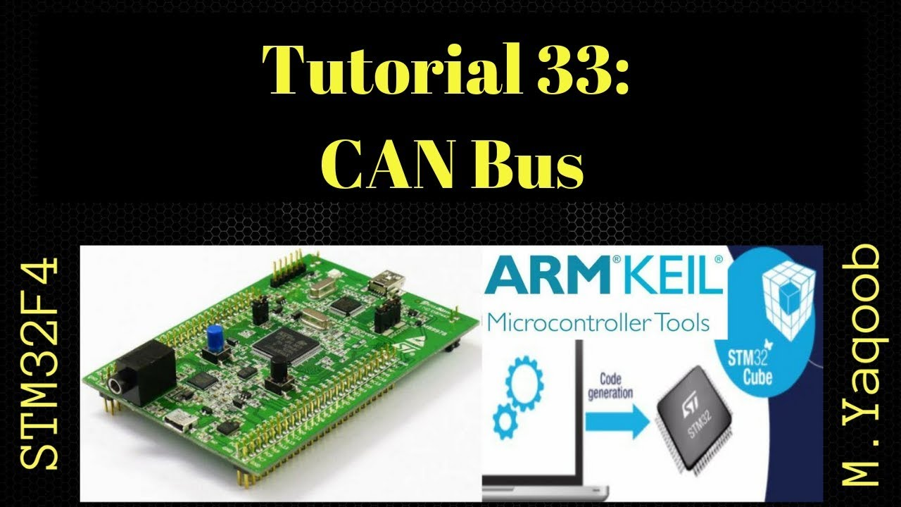 STM32F4 Discovery board - Keil 5 IDE with CubeMX: Tutorial 33 - CAN Bus