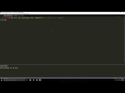 Python programming - Single line Comments