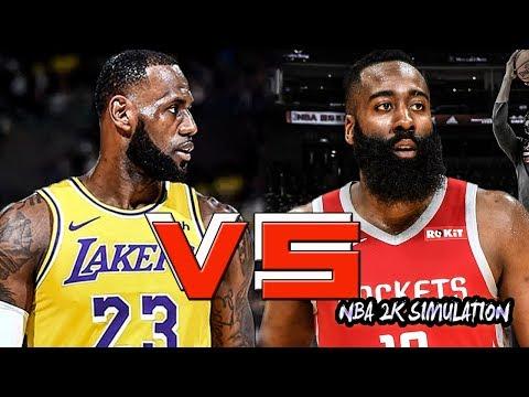 Los Angeles Lakers vs Houston Rockets - Full Game   Dec 13, 2018   NBA 2k19