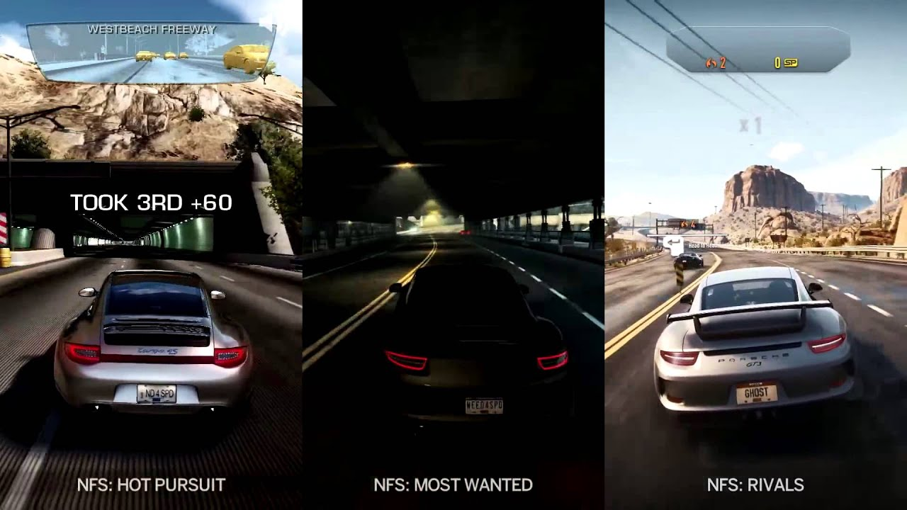 Need For Sd Rivals vs Hot Pursuit vs Most Wanted 2 - YouTube