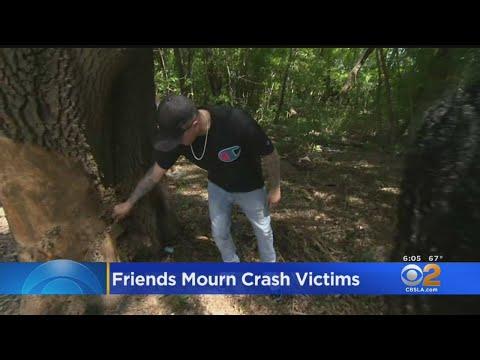Friends Gather At Site Where Duo Died In Horrific Lamborghini Crash