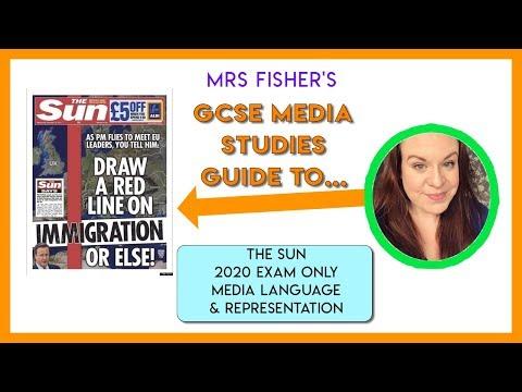 GCSE Media - The Sun 2020 Exam - Media Language & Representation