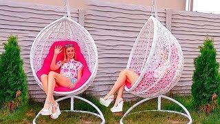 Кресло КОКОН Садовая качеля Обзор от МИССБЬЮТИМАМА ГАРДИЛЕДИ ВЕСТА Кресло качеля кокон