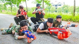 LTT Game Nerf War : Winter SEAL X Nerf Guns Fight Criminal Group Legendary Warrior Nerf Mega