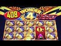 🔶408 FREE RHINO CHARGE SPINS🔶 GIVE ME THAT BOOST!? - WONDER 4 BOOST - Slot Machine Bonus Win