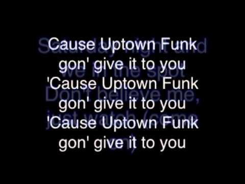 Uptown funk lyrics explicit youtube