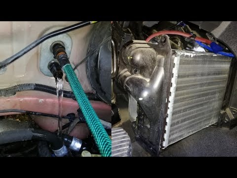 citroen heater matrix removal with dash in place + core flush + evaporator  cleaning