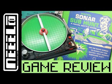 Sonar Sub Hunt 1960s - Vintage Toy / Boardgame  Unboxing & Review