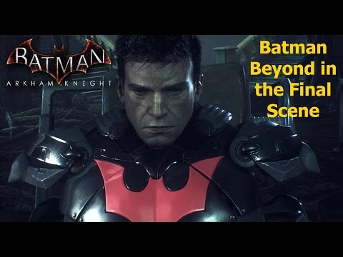 Batman Arkham Knight: Batman Beyond (2039) in the Final Scene
