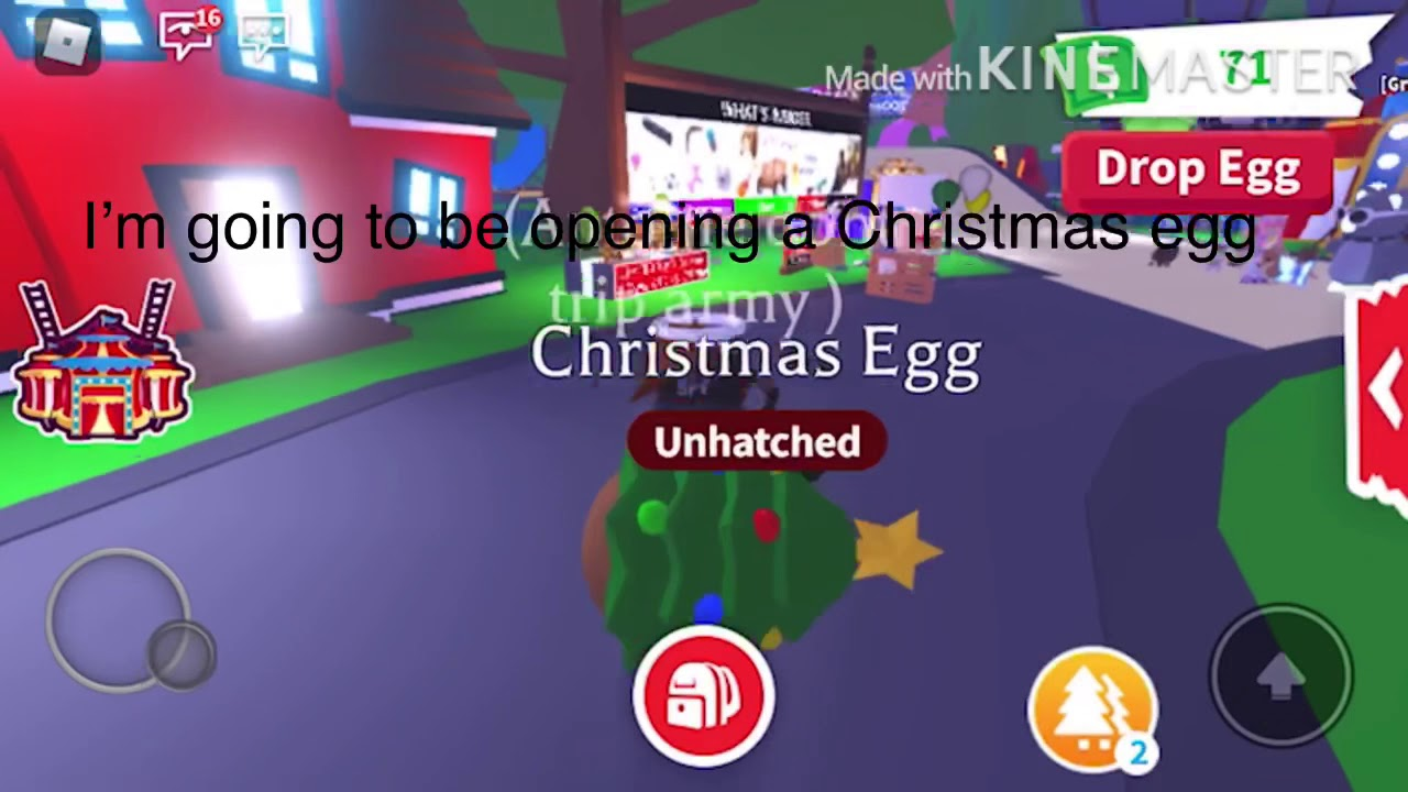 Hatching Christmas egg (adopt me) - YouTube