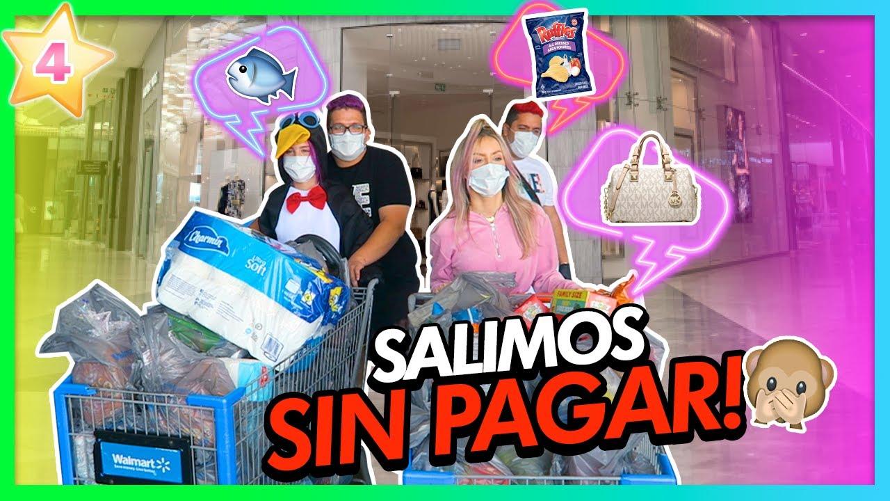 TEAM ANGEL DE COMPRAS!!!🛍 SALIMOS SIN PAGAR?!😱 | CAP 4 TEAM ANGEL