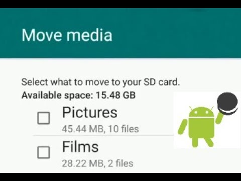 How to transfer photos & videos from internal memory to SD card on Android  Oreo 8 0