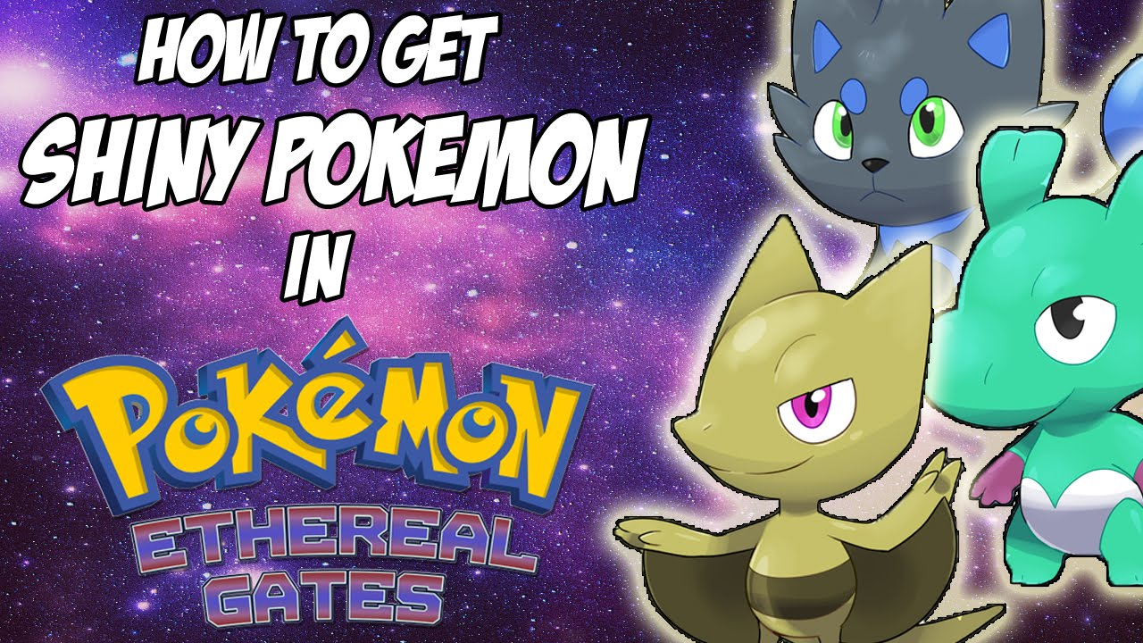 how to get shiny pokemon in pokemon glazed