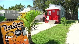 Beachside tiny home rentals on Siesta Key