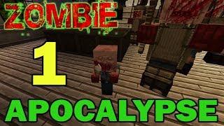 ч.01 Прохождение карты Minecraft - Zombie Apocalypse (миссия 1)