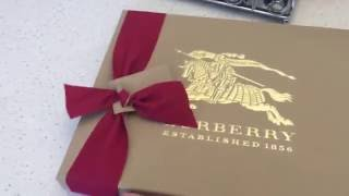Burberry cross body bag Unboxing