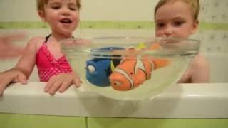 VLOG #2 мультфильм В поисках Дори/ Запускаем Дори и Немо в ванной/ Finding Dory