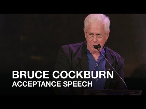 Bruce Cockburn acceptance speech | 2017 Canadian Songwriters Hall of Fame