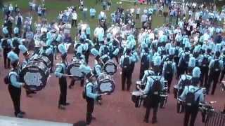 UNC Marching Band Wilson Library Warm Up (vs. GT, 10/18/14)