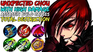 HOW TO PLAY LIKE UNXPECTED CHOU WITH HIGH DAMAGE ASSASSIN BUILD!! | MOBILE LEGENDS