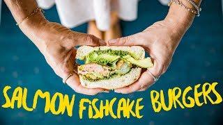 How To Make   Salmon and HempSeed Fishcake Burger Recipe