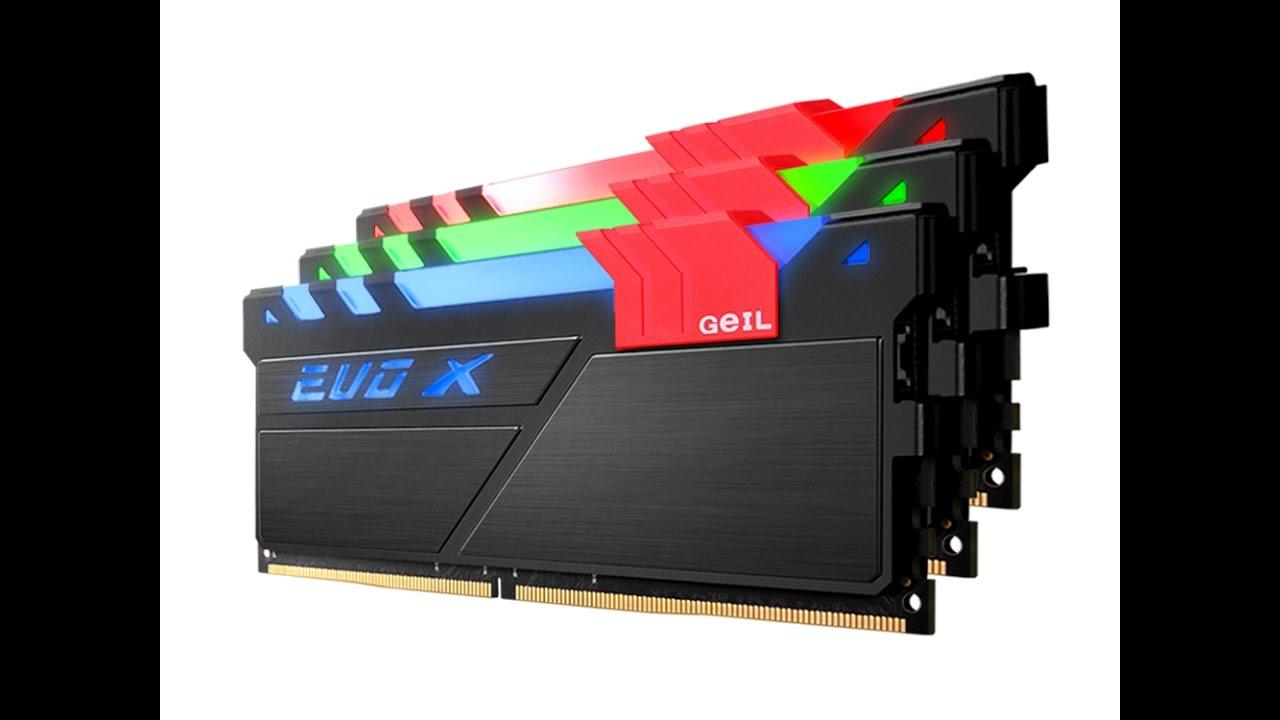 GEIL EVO X 16GB Kit DDR4 3200 CL16 RGB Gaming Memory Review