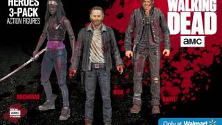 The Walking Dead Heroes 3 Pack Deluxe Box - McFarlane Toys