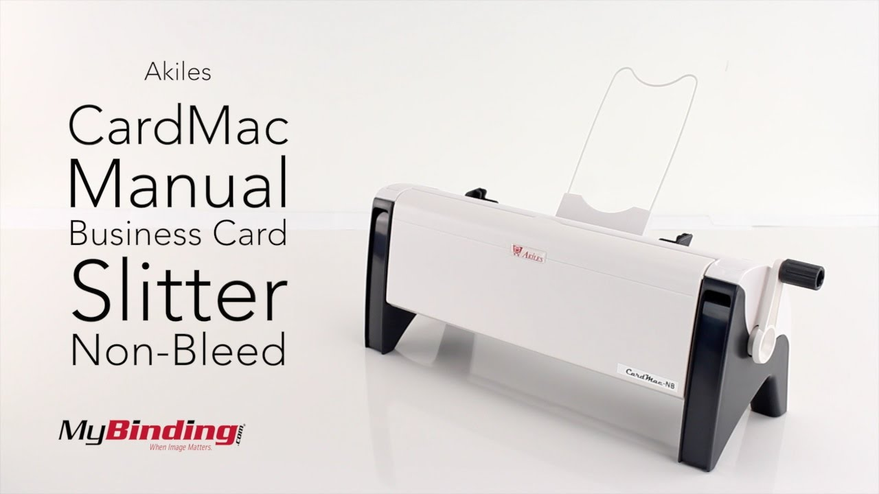 Akiles CardMac Manual Business Card Slitter Non-Bleed - YouTube