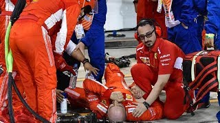 Watch: Ferrari Pit Crew member Suffers HORRIFIC Injury After Car Runs Him Over!