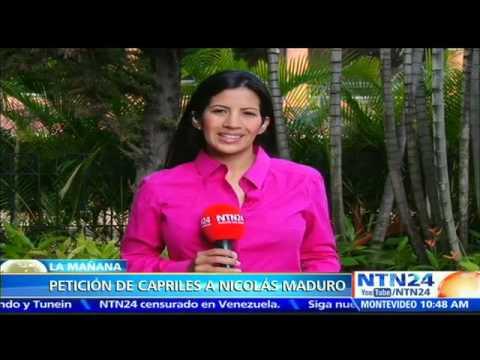 Henrique Capriles pide a Maduro un acuerdo nacional ante inminente colapso en economía venezolana