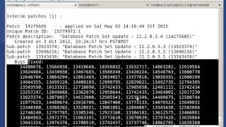 oracle software Patching