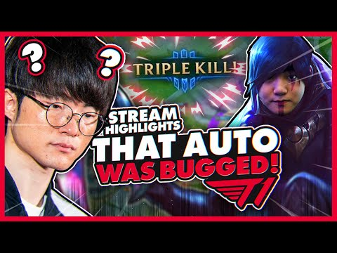 Faker's Bugged Auto?! | T1 League Of Legends Stream Highlights
