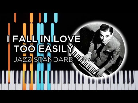 I Fall In Love Too Easily - jazz piano solo Synthesia tutorial