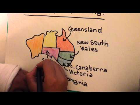 the map of australia