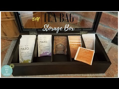 TEA BAG STORAGE BOX Diy | WOOD TEA BOX | TRASH TO TREASURE | ORGANIZING TEA | STORAGE IDEAS