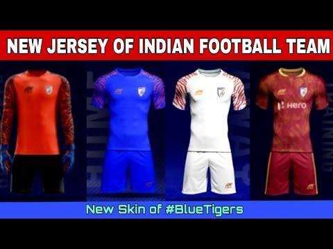 New Jersey Of Indian Football Team || New Skin Of #bluetigers || Indian Football ||