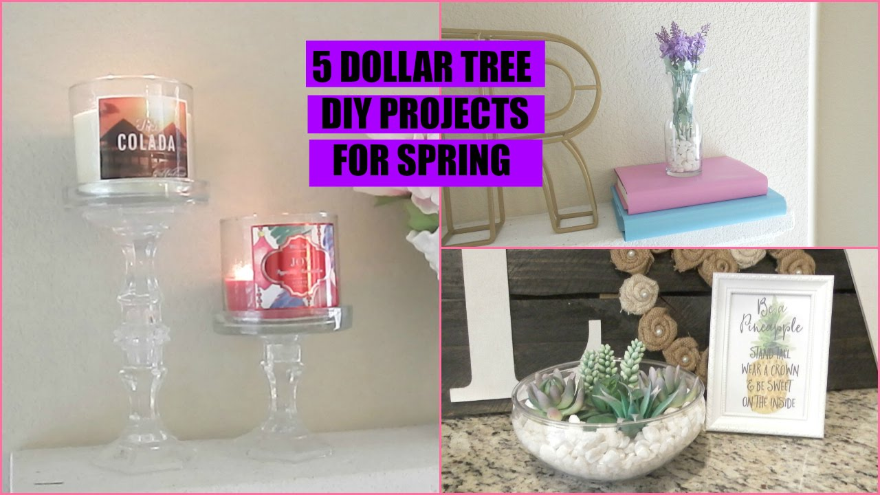 Dollar tree diy home decor collab youtube for Bathroom decor dollar tree
