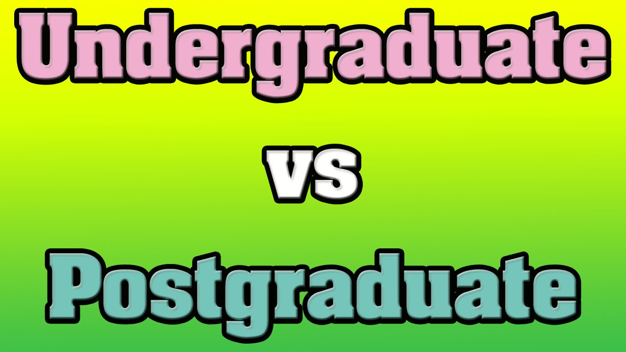 the difference between undergraduate and graduate