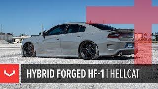 Vossen Hybrid Forged HF-1 Wheel   Dodge Charger Hellcat   Satin Black