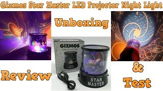 Gizmos Star Master LED Projector Night Light - Unboxing,Review & Test