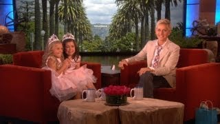 The girls were back to fill Ellen in on their visit to the states s...