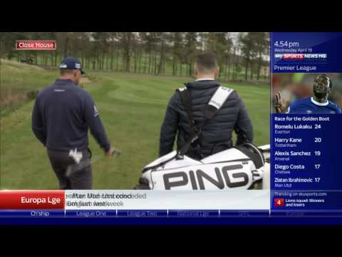 Lee Westwood with Keith Downie - Sky Sports News 19th April 2017