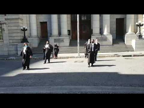 Attorneys and Advocates doing Jerusalem outside Cape Town High Court. Proud of my colleagues