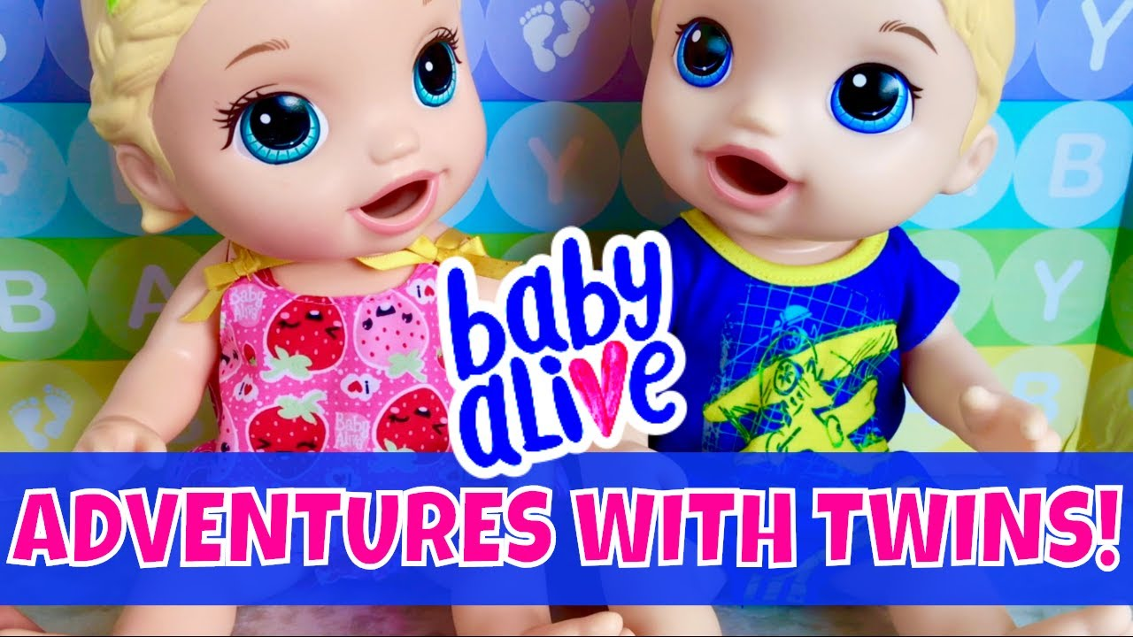 baby alive snackin twins luke and lily